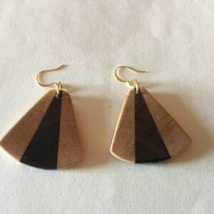 Cherry & Walnut Wood Earrings (20-07)