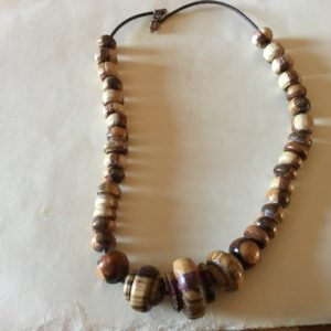 Wood Bead Necklace (20-14)