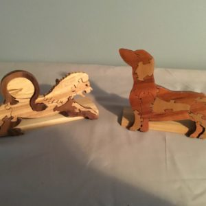 Dog and Lion Wood Puzzles