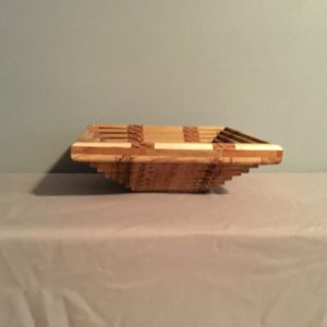 Square Collapsible Wood Bowl (1e)