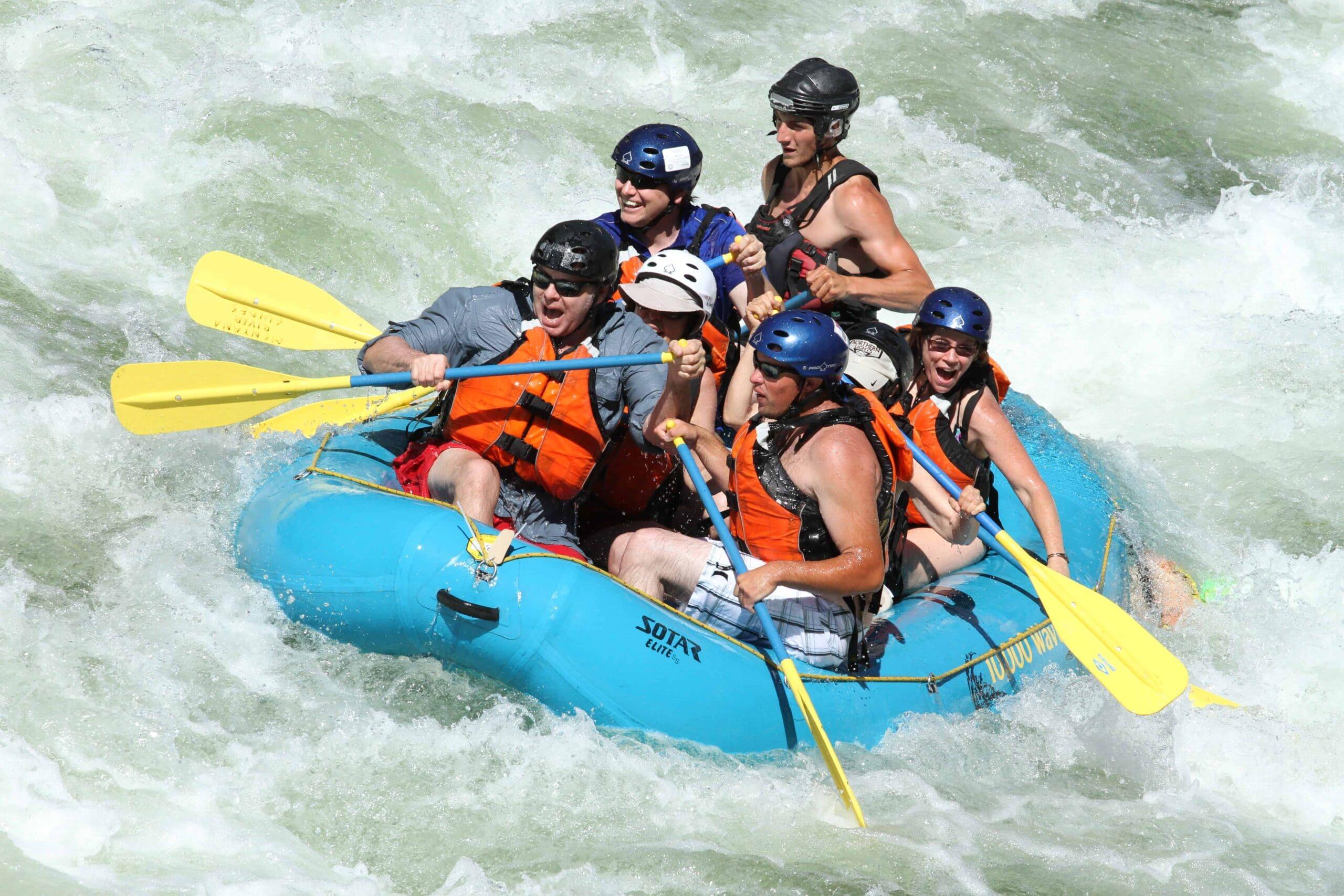 Missoula rafting adventure on the Clark Fork River near Missoula