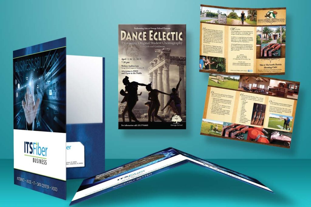 Printing Services - Brochures, Posters. Flyers pocket folders