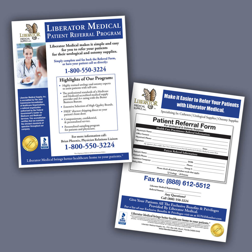 Flyers - Liberator Medical Referral form