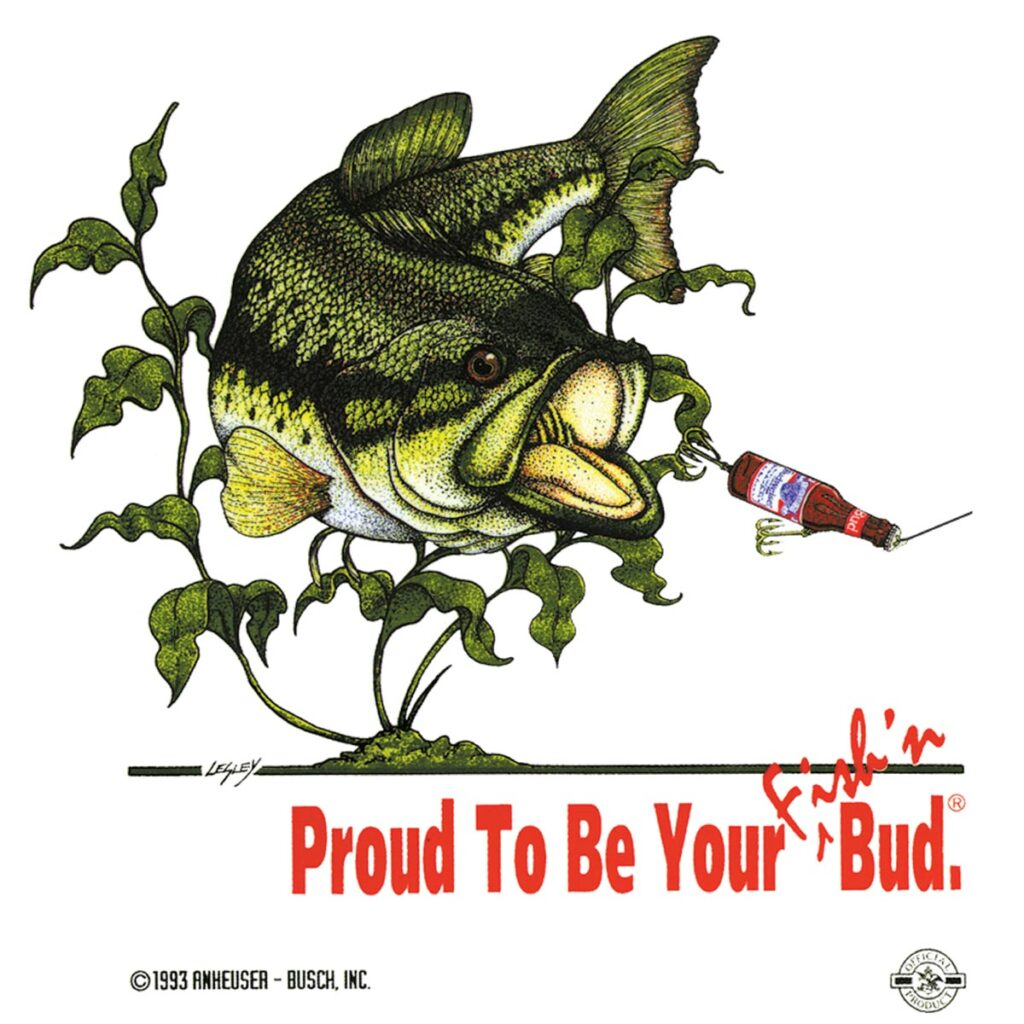 T-shirt Illustration - Anheuser Busch fishing bud