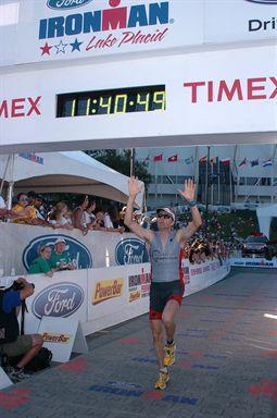 Arthur Dembro Ironman Lake Placid 2011 Finish