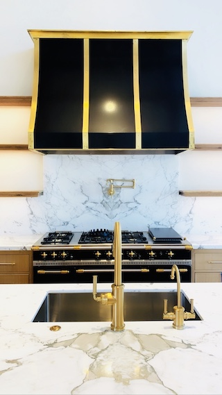 Black Metal Vent Hood Brass Custom