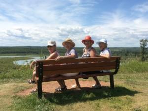 Rita, Ruth, Maureen and Adele at Glenmore Park, Calgary