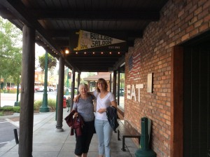 Ruth with her daughter at the Bulldog Saloon