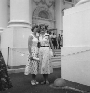 Maureen and Marjorie in front of the White House Washington, D.C.