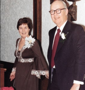 Georgie and her husband Bill Rowbotham possibly 1982