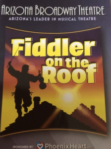 The poster for Fiddler on the Roof