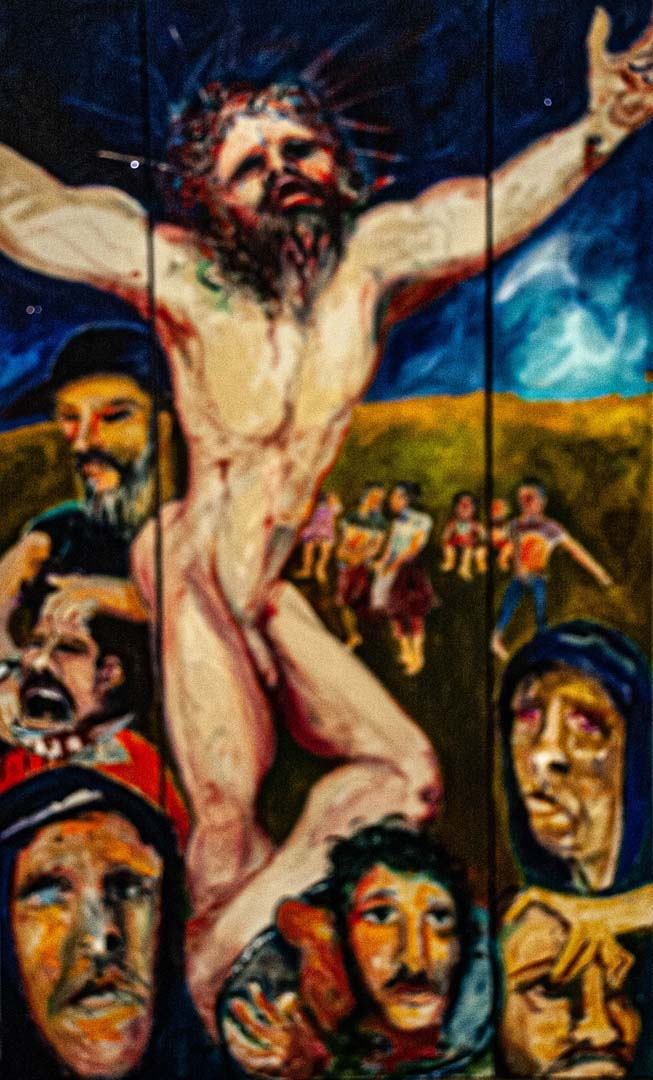 You are currently viewing A-B-C Crucifixion (triptych)