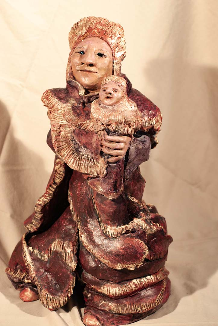 You are currently viewing Deep Russet Red Madonna & Child
