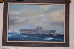 Painting of USS Enterprise by Richard DeRosset