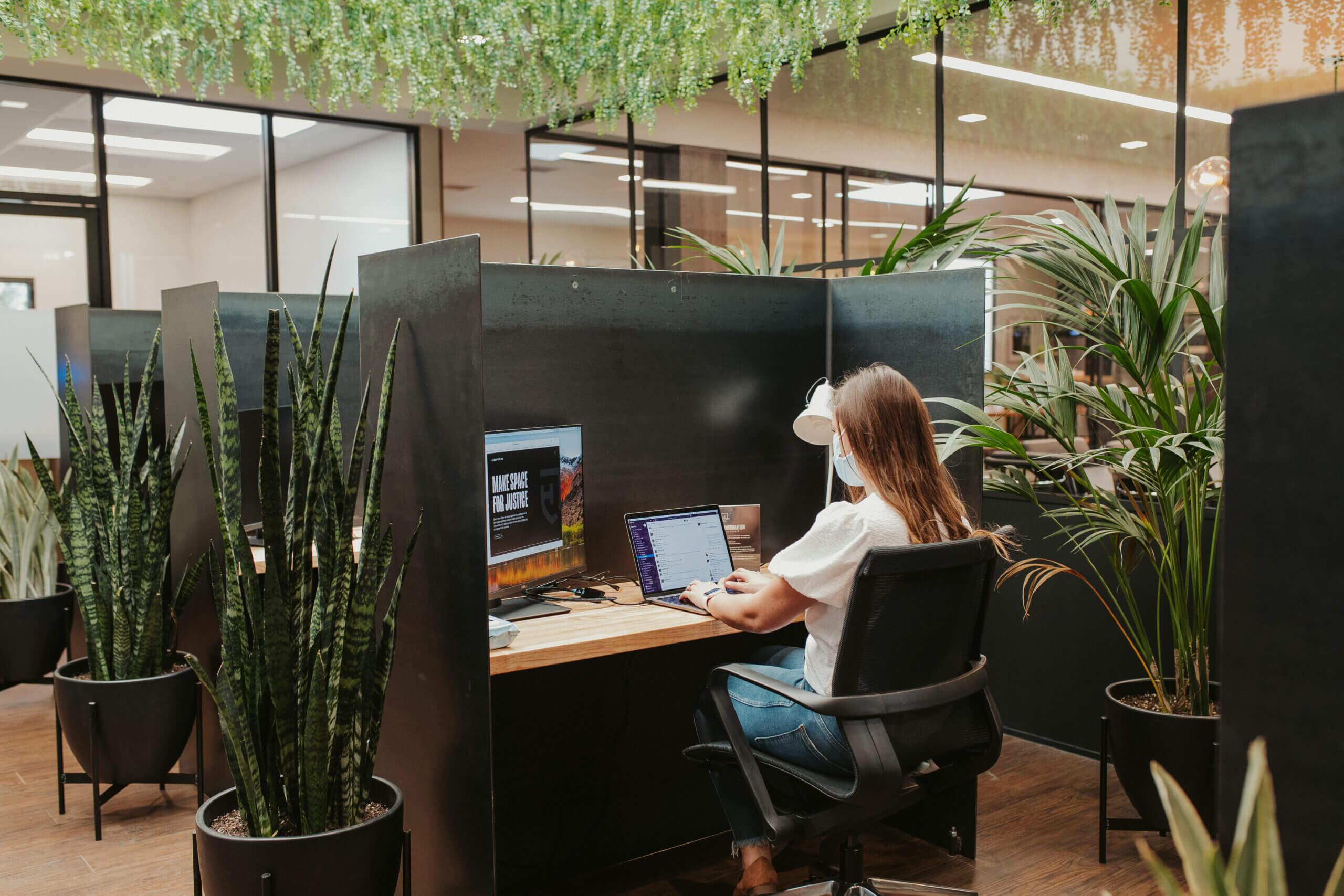 Justice HQ OC desk pods