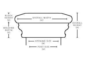 nantucket post cap measurement chart seabreeze
