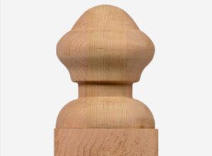 nantucket post cap acorn finial