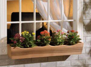 nantucket post cap flower box