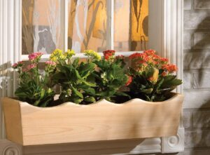 nantucket post cap flower basket