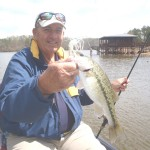 Gary caught this spotted bass on a spinnerbait.