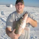 Nice walleye caught ice fishing