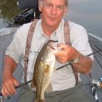 Lake Sinclair bass caught on a jig head worm