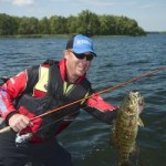 Greg Vionson with Smallmouth Bass