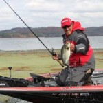Jimmy Mason and bass caught in mats of grass