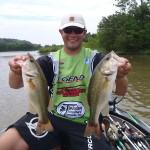 Sambo caught these two nice bass at Demopolis Lake