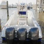 Kingfish boat powered by three Yamaha Outboards