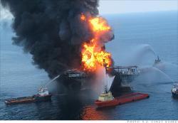 Deep Water Horizon on fire