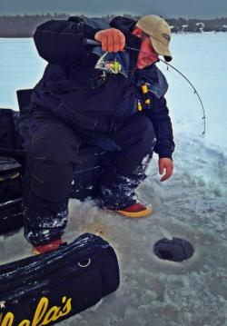 Tip-up fishing