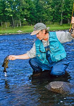 River fly fishing for smallmouth