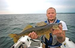 Walleye caught in Michigan