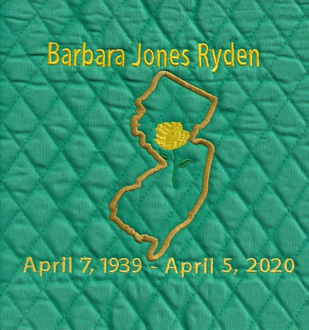 IN MEMORY OF BARBARA JONES RYDEN