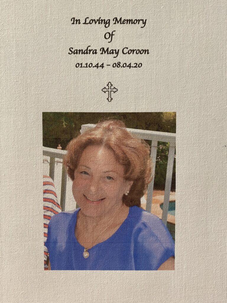 IN MEMORY OF SANDRA MAY COROON 01/10/44 - 08/04/20