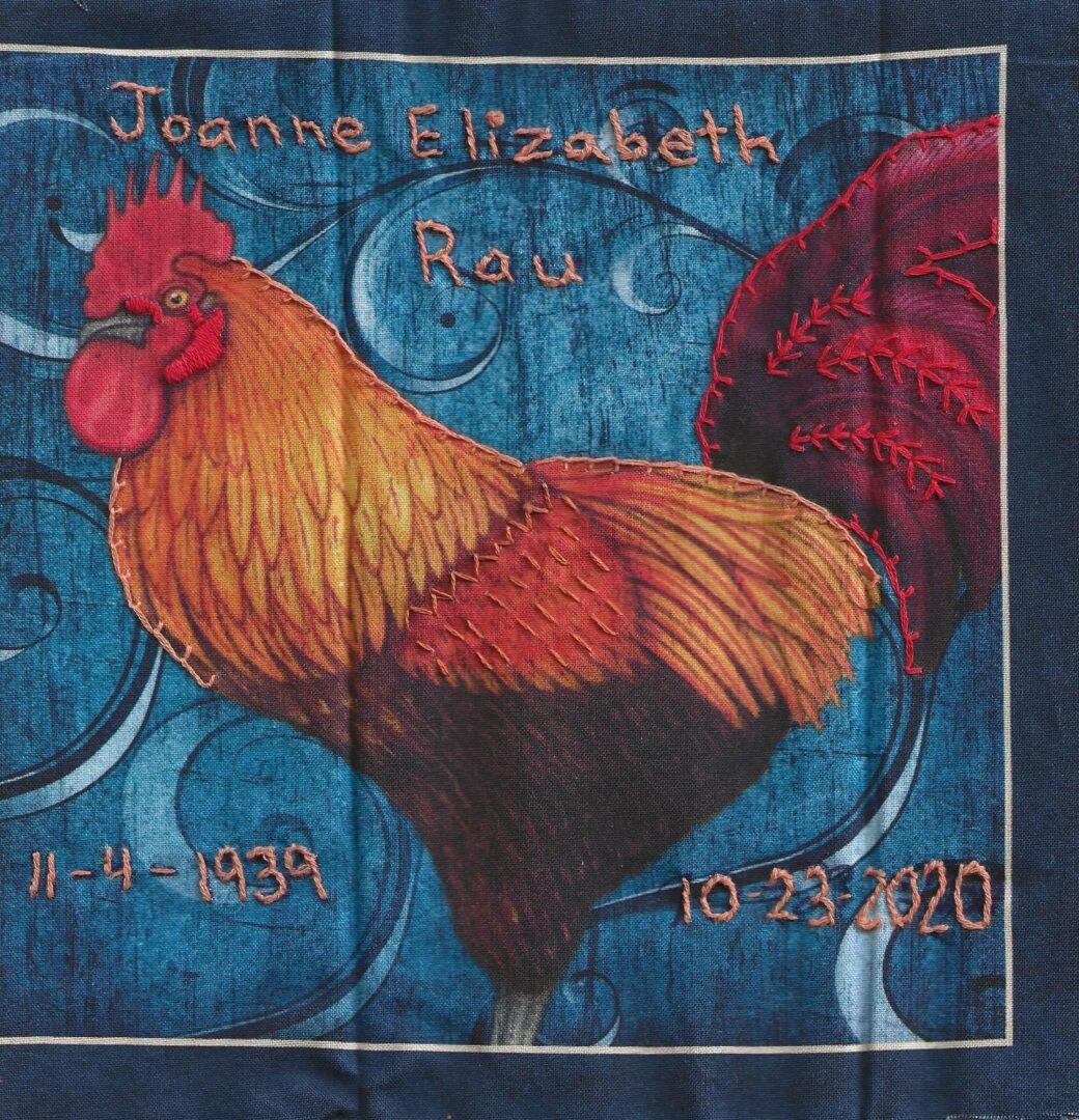 IN MEMORY OF JOANNE ELIZABETH RAU 11/4/1939 - 10/23/2020