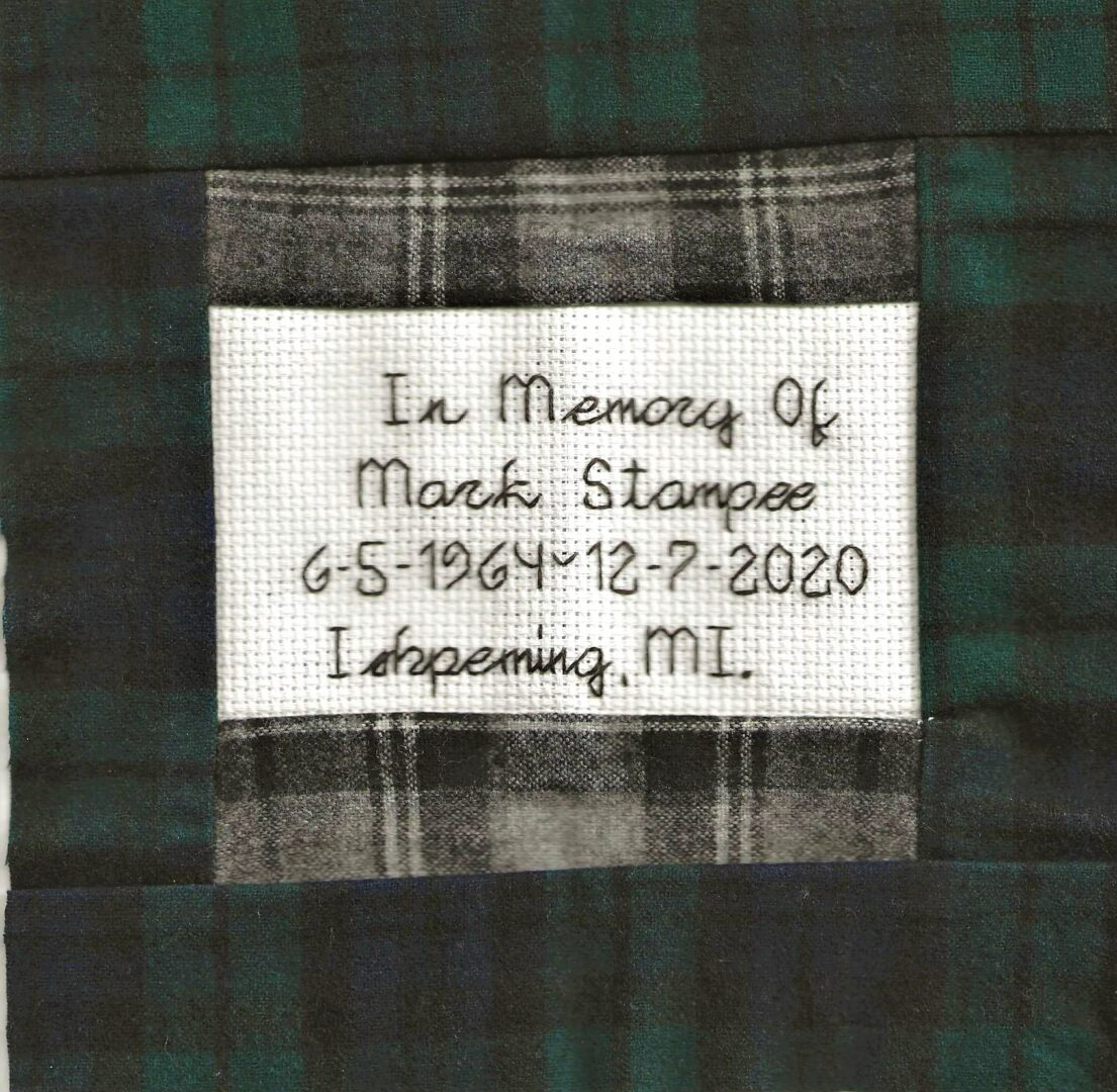 IN MEMORY OF MARK STAMPEE 6-5-1964 - 12-7-2020