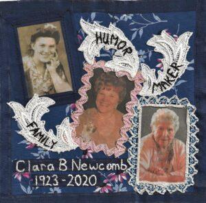 IN MEMORY OF CLARA BARBARA NEWCOMB - MAY 27, 1923 - JUNE 15, 2020