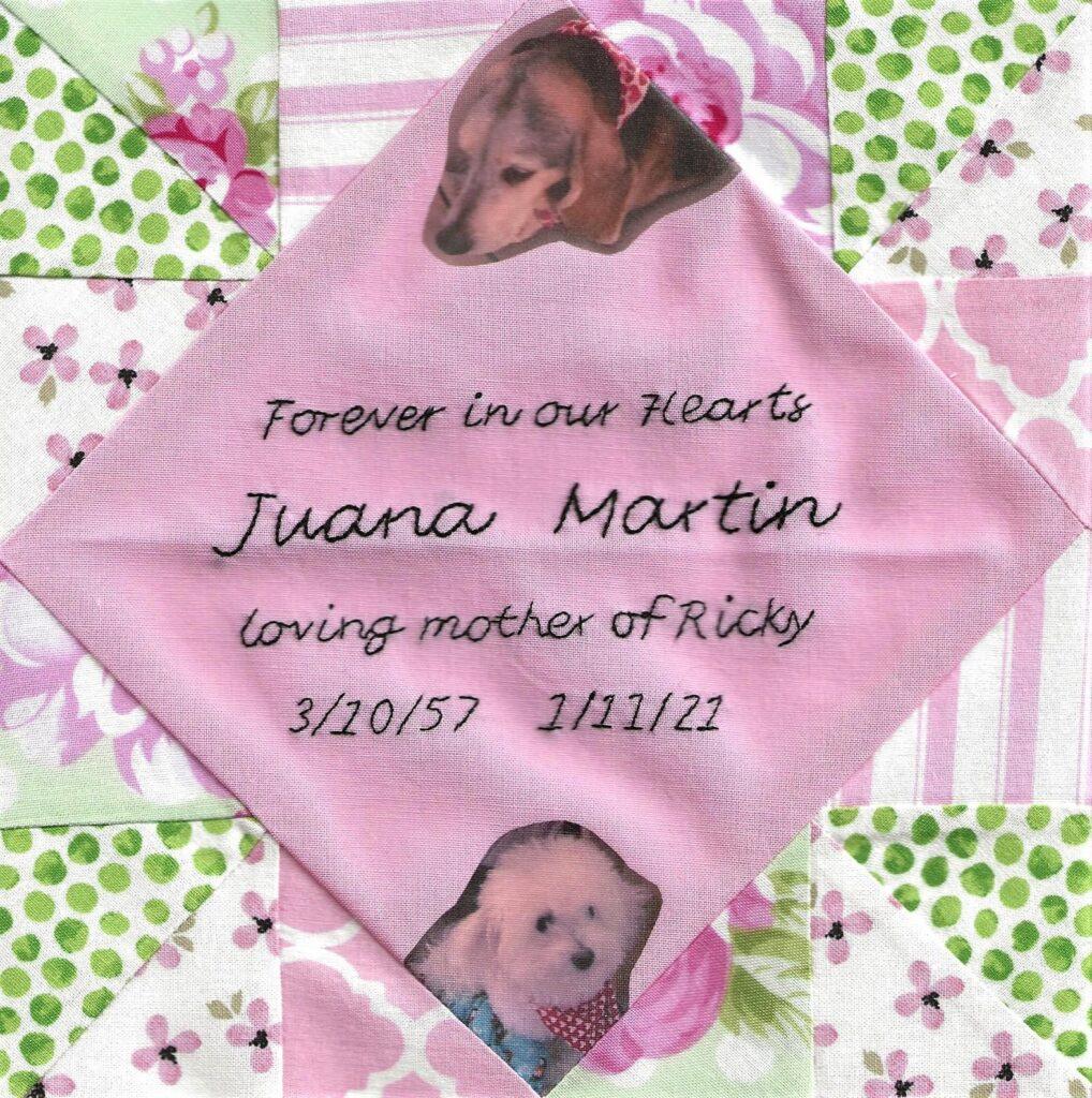 IN MEMORY OF JUANA MARTIN - 3/10/57 - 1/11/21
