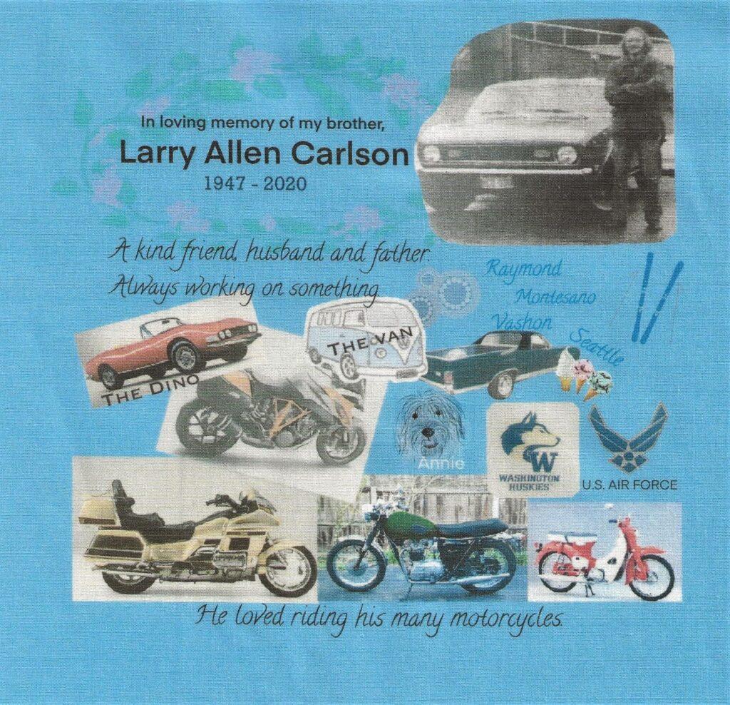 IN MEMORY OF LARRY ALLEN CARLSON - 1947 - 2020