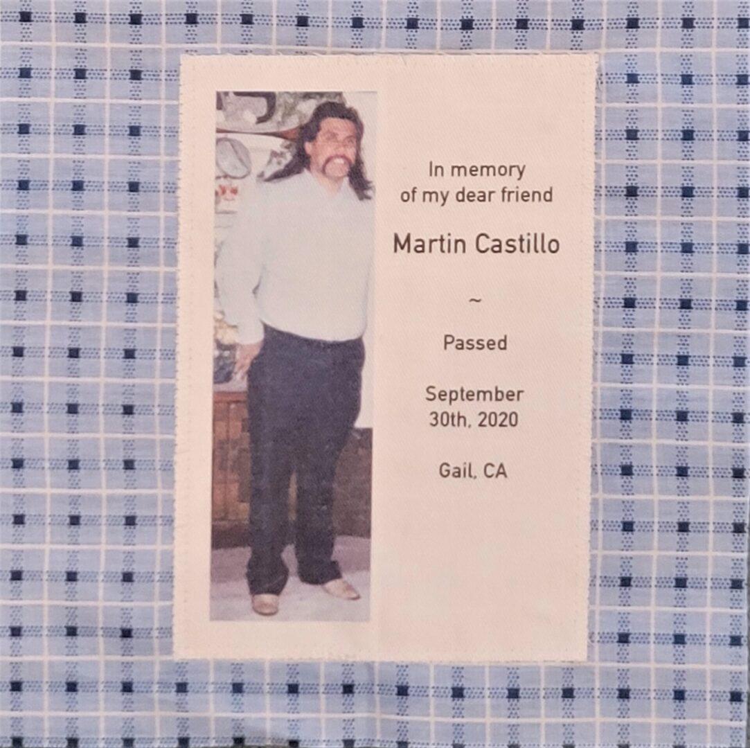 IN MEMORY OF MARTIN CASTILLO