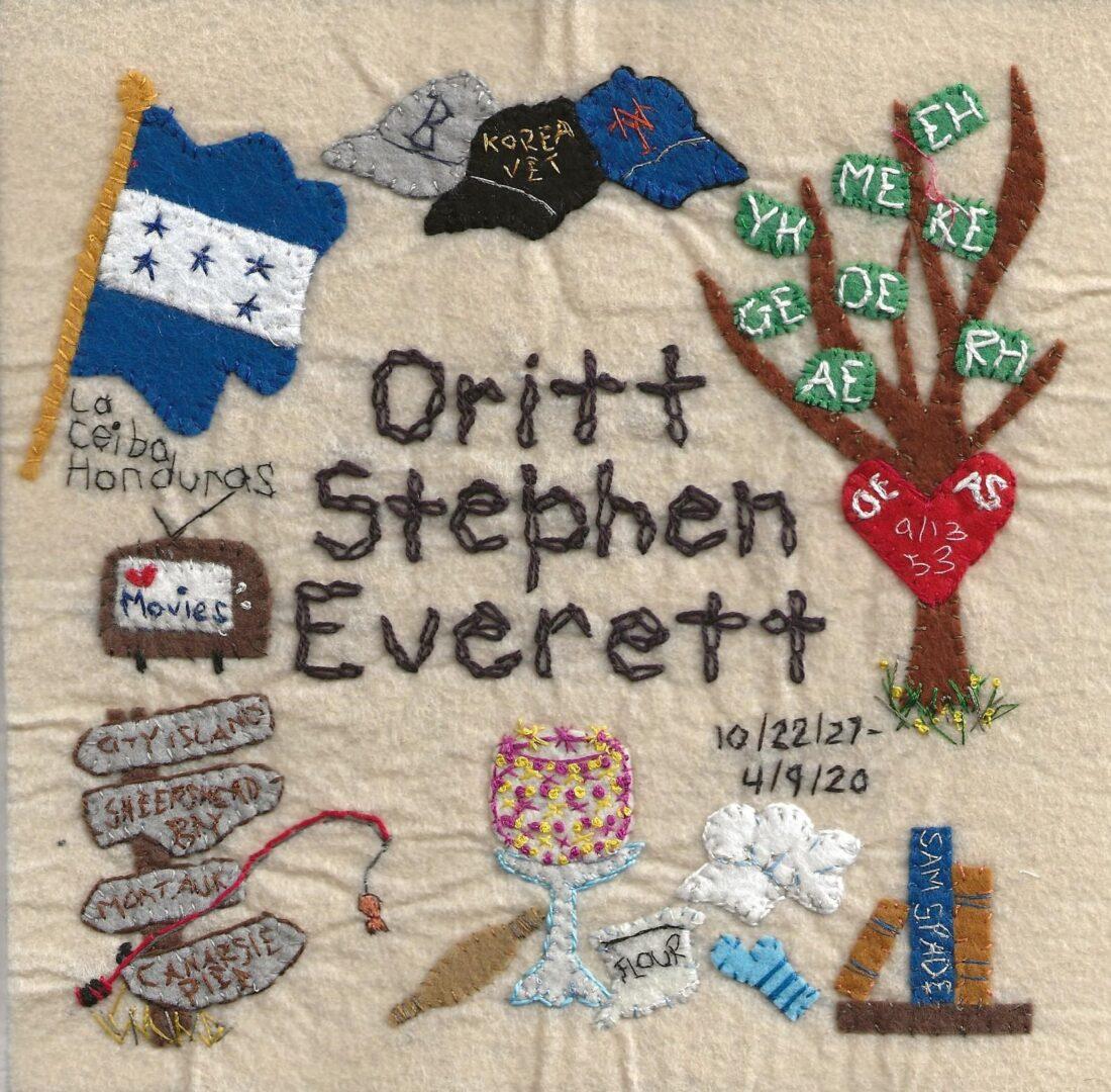 IN MEMORY OF ORITT STEPHEN EVERETT - 10/22/27 - 4/9/20