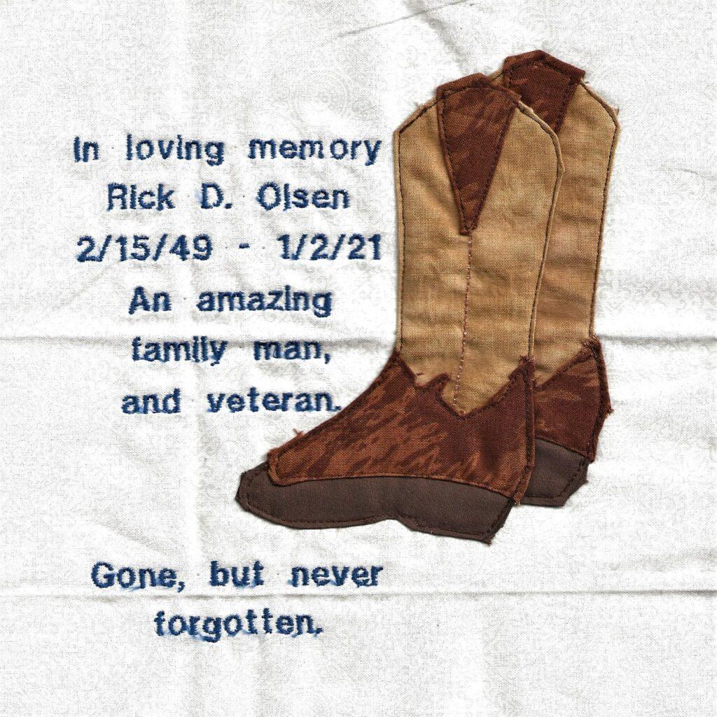 IN MEMORY OF RICK D. OLSEN - 2/15/49 - 1/2/21