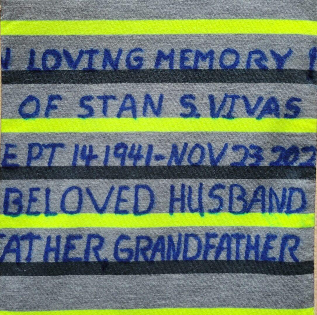 IN MEMORY OF STAN S. VIVAS SEPT 14 1941 - NOV 23 2020