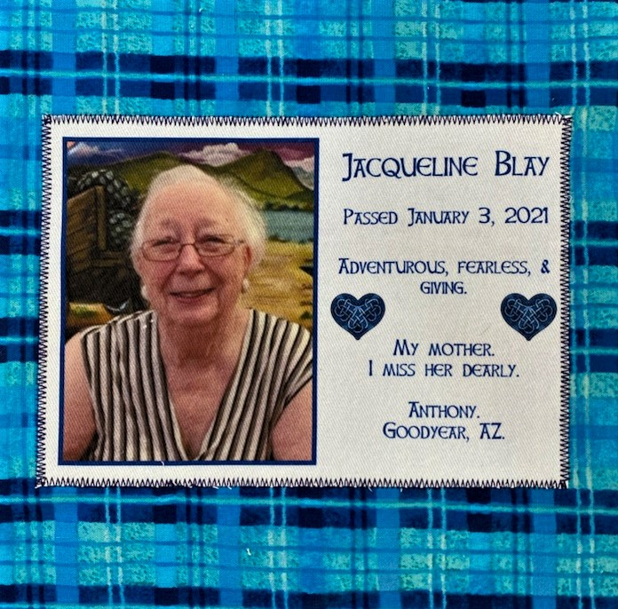 IN MEMORY OF JACQUELINE BLAY - 1/3/2021