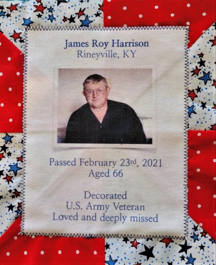 IN MEMORY OF JAMES ROY HARRISON - FEB 23, 2021