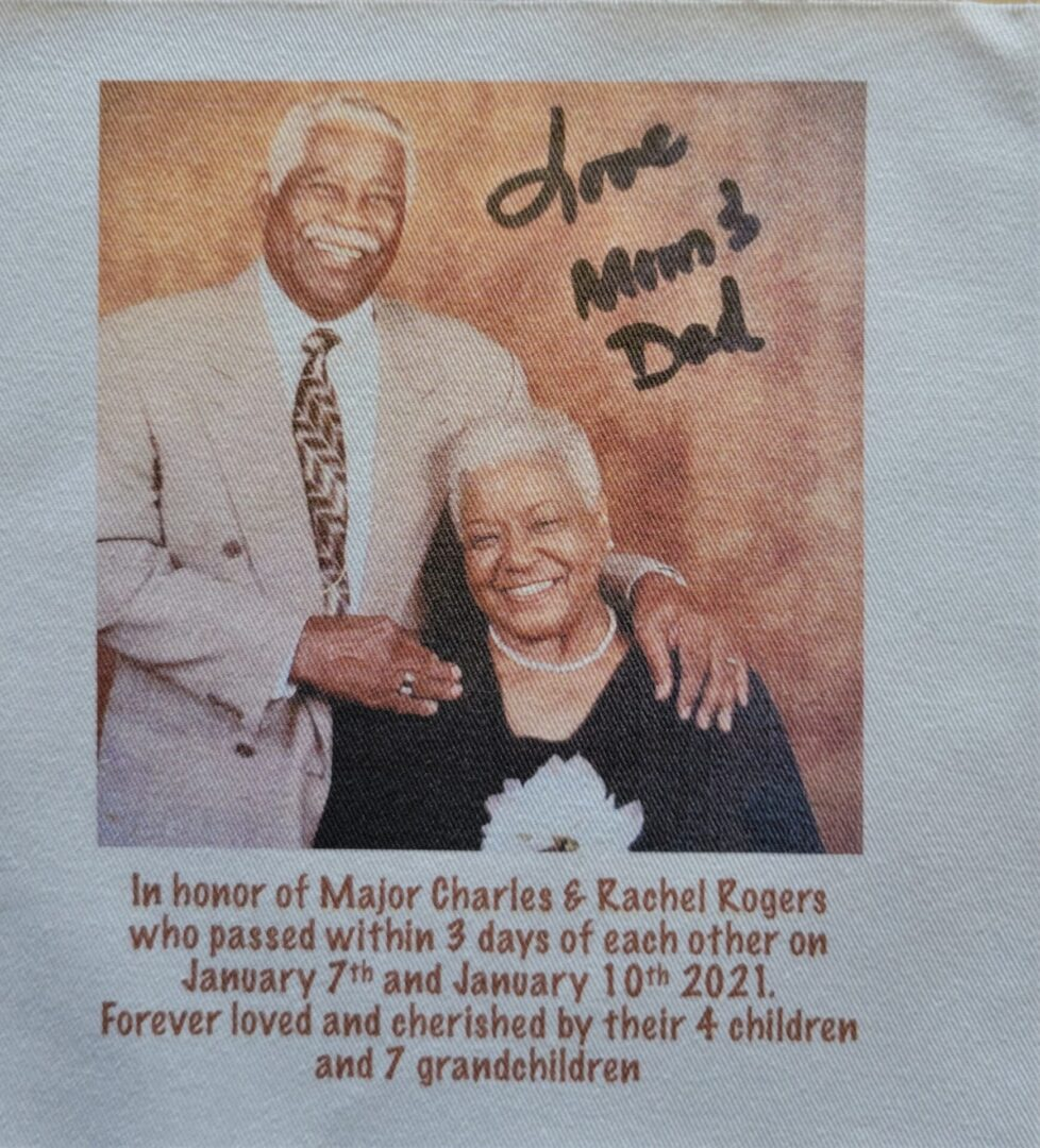 IN MEMORY OF MAJOR CHARLES AND RACHEL ROGERS - JANUARY 7th and JANUARY 10th, 2021