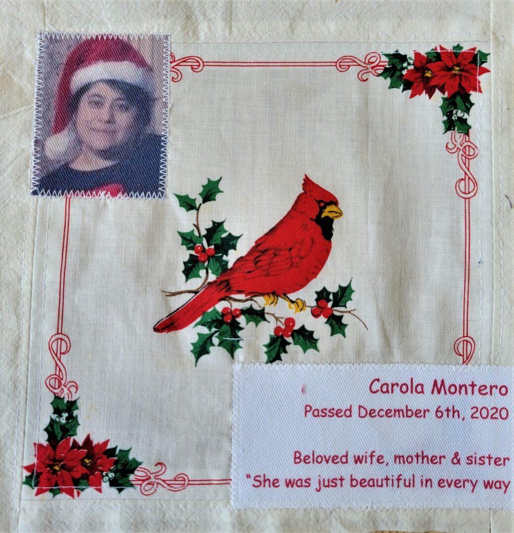 IN MEMORY OF CAROLA MONTERO - DECEMBER 6, 2020