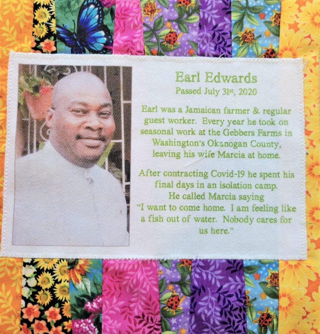 IN MEMORY OF EARL EDWARDS - JULY 31, 2020
